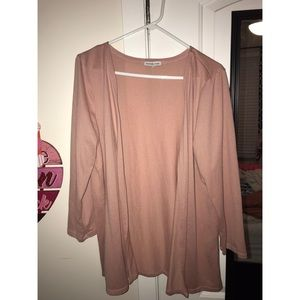 Charlotte Russe dusty rose cardigan sz XL